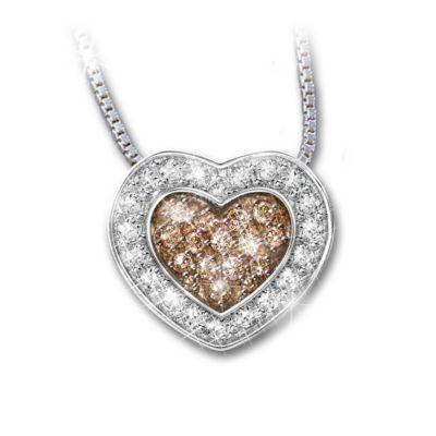 White And Chocolate Diamond Rings Bradford Exchange