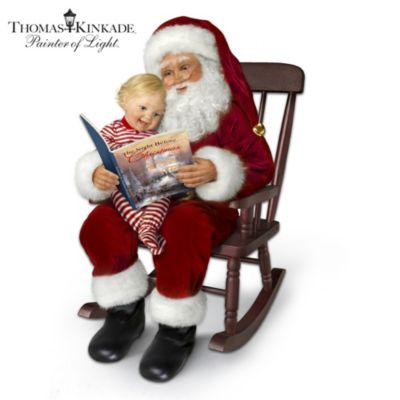 ... Night Before Christmas Story-Telling Santa Doll Set With Rocking Chair