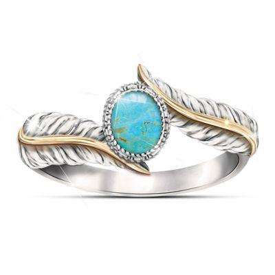 Bradford Exchange Free Spirit Turquoise Ring