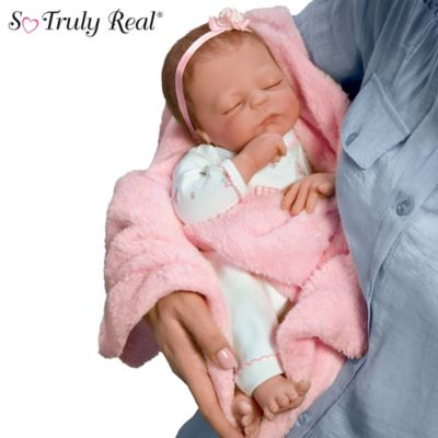Cuddle Caitlyn So Truly Real Lifelike Baby Girl Doll With