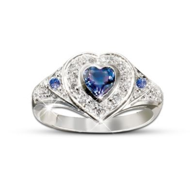 True Heart Tanzanite And Diamond Heart Shaped Ring Romantic Jewelry Gift For Her