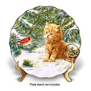 """""""Smitten Kitten"""" Porcelain Collector Plate"""