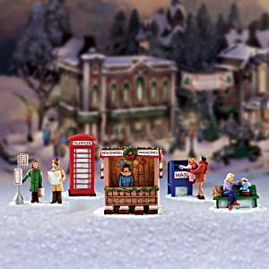 """""""Village Sidewalks"""" 5-Piece Village Accessory Set"""