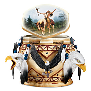 """Spirit Of The Eagle"" Keepsake Box With Chuck Ren Artwork"