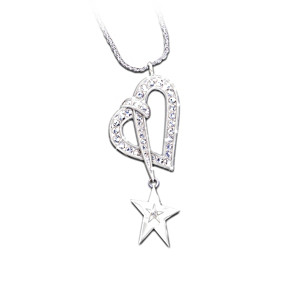 "Swarovski Crystal And Diamond ""Shining Star"" Pendant"