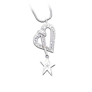 "Swarovski Crystal And Diamond ""Shining Star"" Pendant"