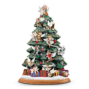 """""""Purr-fect Holiday"""" Tabletop Christmas Tree"""