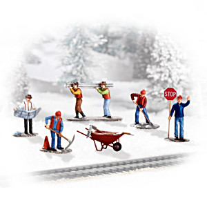 """Working On The Railroad"" Village Accessory Figurine Set"