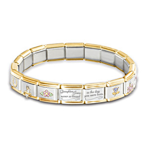 """Precious Daughter"" Italian Charm Bracelet"