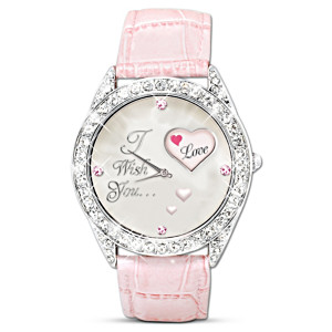 """I Wish You"" Rotating Crystal Watch For Daughter"