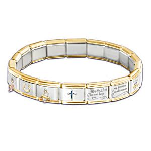 """Precious Granddaughter"" Italian Charm Bracelet"