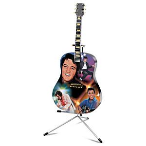"Elvis Presley ""Burning Love"" Illuminated Guitar Sculpture"