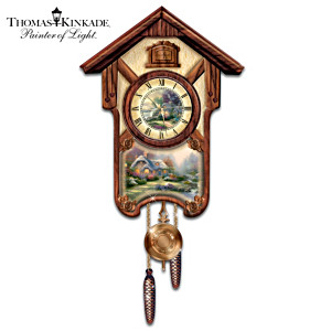 "Thomas Kinkade ""Timeless Memories"" Wall Clock"