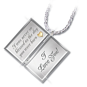"""Dear Granddaughter"" Letter Of Love Locket Pendant"