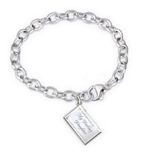 """Letter Of Love"" Diamond Engraved Bracelet For Daughter"