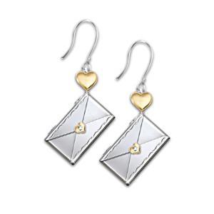 Dear Daughter Letter Of Love Earrings Pierced