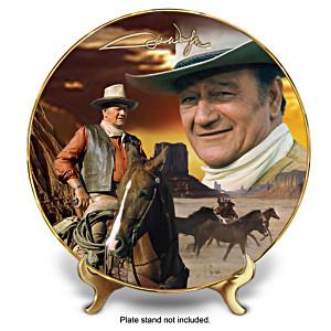 "John Wayne ""Tall In The Saddle"" Collector Plate"