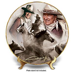 """John Wayne """"Round Em' Up!"""" Collector Plate"""
