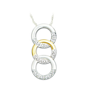 """Trilogy Of Love"" Diamond Pendant Necklace"