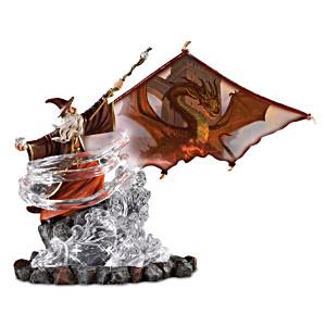 "Matthew Stawicki ""Dragon Fire"" Wizard And Dragon Sculpture"