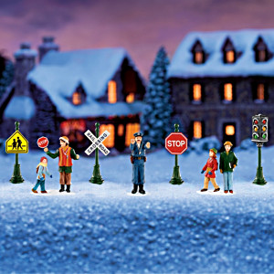 Winter Traffic Signs Train Accessory Set