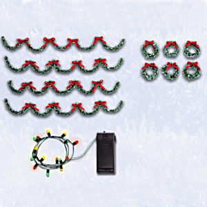 Holiday Decorations Village Accessory Set