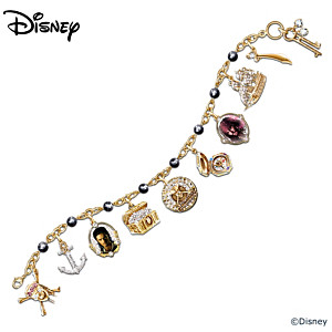 a pirates treasure charm bracelet with cultured black