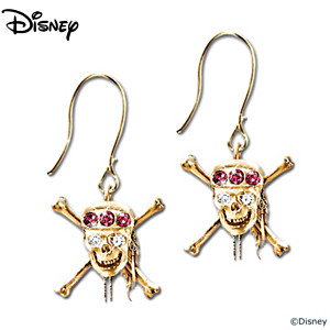Pirates Of The Caribbean Swarovski Crystal Earrings