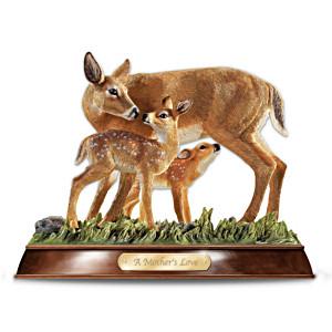 """""""A Mother's Love"""" Deer Figurine"""