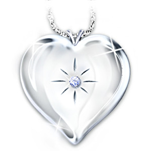 """Always And Forever"" Engraved Diamond Locket Pendant"