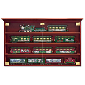 Wooden Display Cabinet For Train Collection