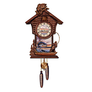 Trophy Time Decorative Wooden Cuckoo Clock Largemouth