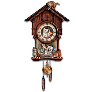 Jürgen Scholz Kitten Art Wall Clock