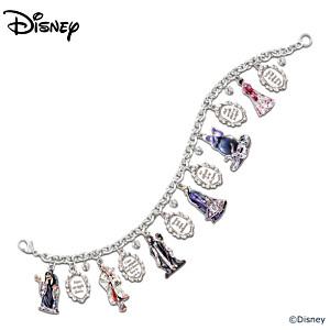 """Disney """"Wickedly Beautiful"""" Swarovski Crystal Charm Bracelet"""