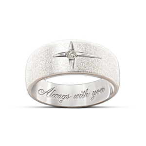 """Forever In Faith"" Diamond Men And Women's Ring"