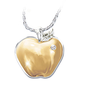 """Teachers Are The Heart Of Learning"" Diamond Pendant"