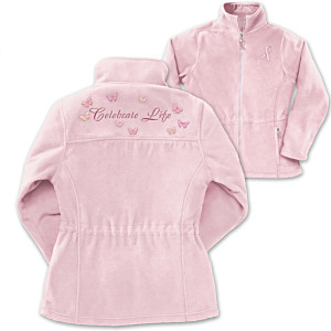 """Celebrate Life"" Breast Cancer Support Fleece Jacket"