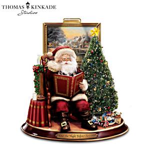 Thomas Kinkade Night Before Christmas Narrating Santa