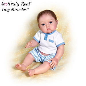"""Christopher Needs A Kiss"" Baby Boy Poseable Doll"