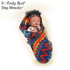 Tiny Miracles Native American-Style Newborn Vinyl Doll