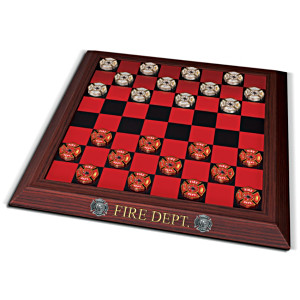 The Official Firehouse Collectible Checkers Board Game Set