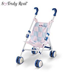 """So Truly Real 10"""" Baby Doll Stroller"""