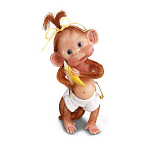 Miniature Baby Monkey Figurine