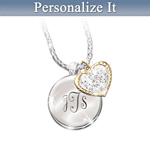 """""""My Blessed Daughter"""" Engraving Personalized Crystal Pendant"""