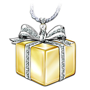 """Gift Of Love"" Diamond Pendant Necklace"