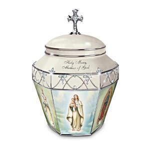 """Holy Mary, Mother Of God"" Porcelain Musical Prayer Box"