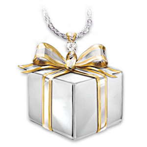 """Sister's Gift Of Love"" Diamond Pendant Necklace"