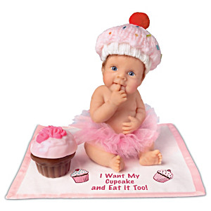"""""""I Want My Cupcake And Eat It Too"""" Lifelike Baby Doll"""