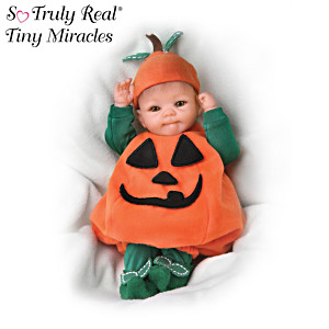 "Tiny Miracles ""Pun'kin"" Halloween Realistic Baby Doll"