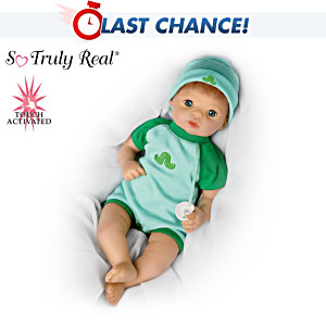 """Living Baby"" Boy Doll Kicks, Makes Lifelike Sounds"